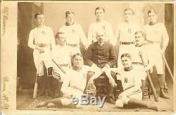 1884 baseball team cabinet photo new york bats uniforms vintage baseball rare