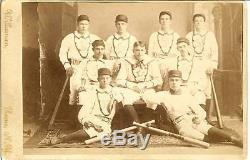 1884 star baseball club team cabinet photo new york bats uniforms vintage post