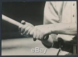1918 TILLIE WALKER, BATTING GRIP Artistic Close-Up Vintage Baseball Photo
