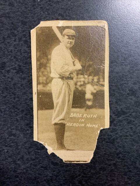 1920 Babe Ruth Headin Home Bat On Shoulder Vintage Super Rare Yankees Movie