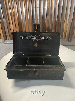 1920s Wilson Tin Box Baseball 1900 Advertising Display Bat Glove Old Vintage