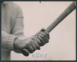 1921 BATTING GRIP OF JACK BENTLEY Orioles RARE Vintage Baseball Photo