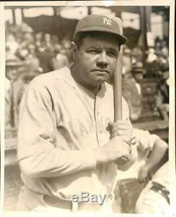 1927 Babe Ruth Vintage Photograph. Famous Notched Bat. 8 x 10