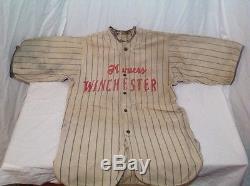 1927 Winchester League Baseball Game Used Uniform bat ball glove old vtg antique