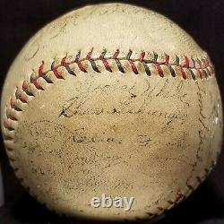 1930 HANK GREENBERG ROOKIE Detroit Tigers Team Signed OAL Ball vtg HOF Gehringer