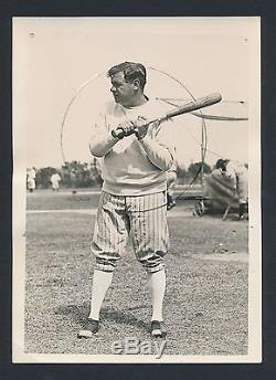 1932 BABE RUTH Vintage Baseball Photo BATTING AT SPRING TRAINING