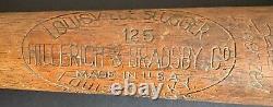 1940-44 MLB Baseball Game Used Bat Al Rubeling Philadelphia Athletics Vintage