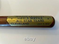 1942 Vintage Louisville Slugger 40 All Star Mini Wooden Baseball Bat Jim Bagby