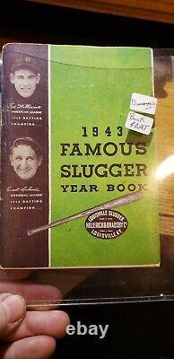 1943 Joe DiMaggio mini baseball bat and year book Vintage RARE