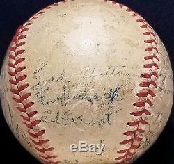 1951 Cincinnati Reds Team Signed ONL Frick Baseball TED KLUSZEWSKI Auto vtg 50s
