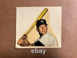 1956-1957 Mac Boy Decal Mickey Mantle Vintage Bat Label Sharp