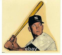 1956-1957 Mac Boy Decal Mickey Mantle Vintage Bat Label Sticker Macboy