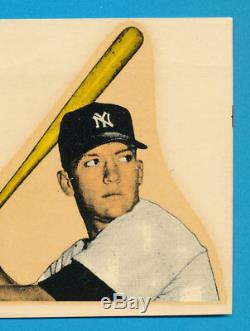 1956-1957 Mac Boy Decal Mickey Mantle Vintage Bat Label Sticker Macboy Sku Blue
