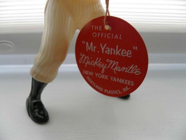1958-60 Vintage Hartland Baseball Mickey Mantle Figure With Bat & Tag/ No Box