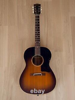 1959 Gibson LG-1 Vintage Acoustic Guitar Sunburst with Case, Baseball Bat Neck