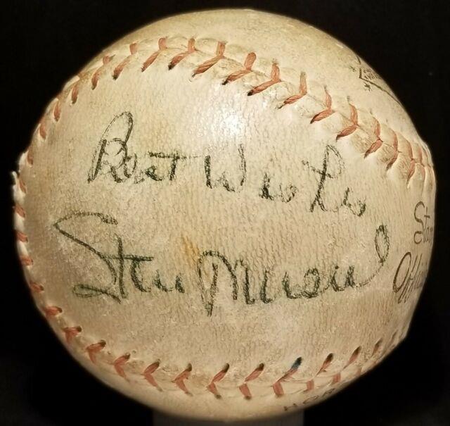 1960s Stan Musial Signed Inscribed Baseball St Louis Cardinals Team Vtg Hof