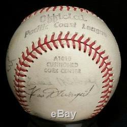1963 WILLIE MAYS Signed Baseball Auto Giants Team vtg WILLIE MCCOVEY ALOU KUENN