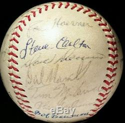 1966 St Louis Cardinals Team Signed Baseball AUTO hof BROCK BOB GIBSON vtg 60s