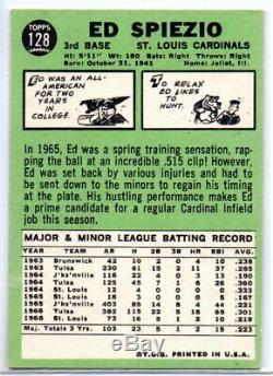 1967 Topps Ed Spiezio Error Variation Missing Spie Bat VINTAGE #128 EXMT 1960S
