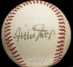 1970s WILLIE MAYS Single Signed ONL Baseball SAN FRANCISCO GIANTS TEAM vtg HOF