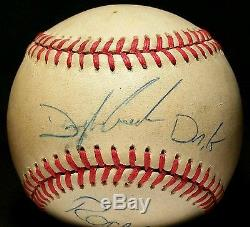1980s ROGER CLEMENS Dwight Doc Gooden dual SIGNED Baseball PSA vtg old RARE auto