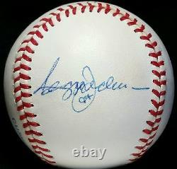 1987 REGGIE JACKSON MARK McGWIRE CANSECO A's Team Signed BASEBALL hof vtg auto