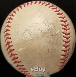 1990 KIRBY PUCKETT Signed Game Used Baseball Minnesota Twins White Sox vtg HOF