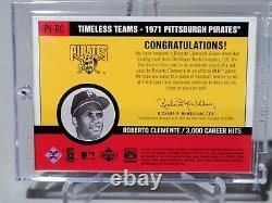 2001 Roberto Clemente Upper Deck Vintage Timeless Teams Game Used Bat Relic Hof