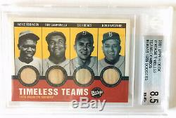 2001 UD Vintage Timeless Teams 55 Brooklyn Dodgers Bat Robinson Campenella Bkn55