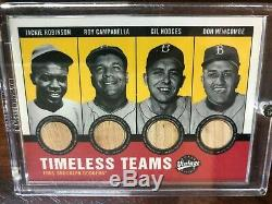 2001 Upper Deck Vintage Timeless Team Combos Bats Dodgers, Robinson Campy RARE