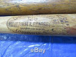4 Vintage Signed Full Sized Baseball Bats Eddie Joost, Pete Rose, Chas Gehringer