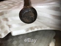 ANTIQUE VINTAGE 1800s TOWN BALL KNOB FLAT PADDLE BASEBALL BAT-RARE 28 Notched