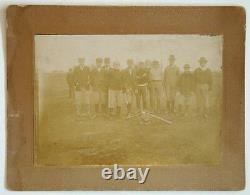 ANTIQUE Vintage 1800s BASEBALL TEAM Cabinet Card Photo BAT BALL GLOVE /NEEDS ID