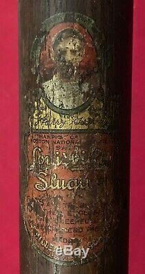Antique 1917 1921 Louisville Slugger Hank Gowdy Decal Baseball Bat Vintage Old