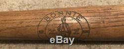 Antique 1930's Bonnie Laddie Sundial Shoes Advertising Baseball Bat 34 Vtg