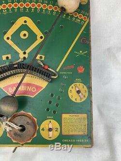 Antique Bambino Baseball Game Chicago World's Fair 1933 1934 Vintage Rare Bat
