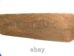 Antique Play Ball Bat Baseball Paddle Vintage Trap Bat E. B. Salyerds New York