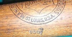 Antique Rawlings No. 7 Wooden Baseball Bat 34 36 oz Vintage