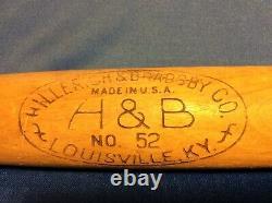 Antique / Vintage U. S. Army H&B Wood Softball Bat / Military Sports Baseball