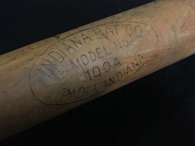 Antique Vtg 20s 30s Indiana Bat Co 35 Model 100a American League Baseball Bat