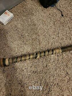 Antique Vtg Black Betsy Baseball Bat Spalding 105 Top Flight