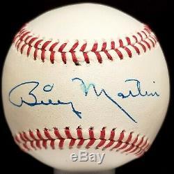 BILLY MARTIN Single SIGNED Baseball hof vtg ball rare NY NEW YORK YANKEES TEAM