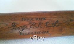 Babe Ruth Vintage Louisville Slugger 40 B. R. H & B Baseball Bat Circa 1920's
