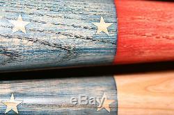 Baseball bat American flag. Rustic / vintage 30 inch bats