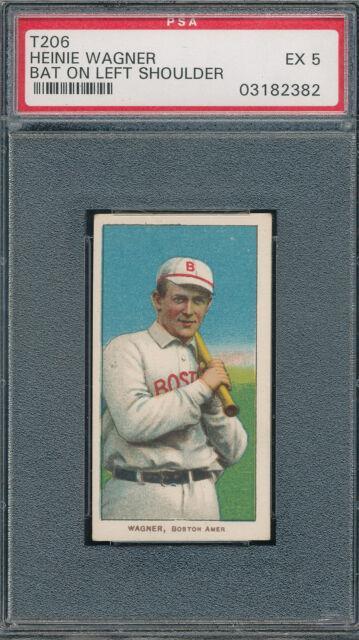 Crisp Psa 5 Ex Graded T206 Heinie Wagner Bat Left Shoulder Vintage 1910 Piedmont