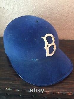 DODGERS Vintage Game Baseball Batting helmet 1950s USED Original With Details