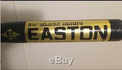 EASTON BLACK MAGIC BASEBALL BAT RARE 34 In 38 Oz LOOK NCAA 1980s VINTAGE