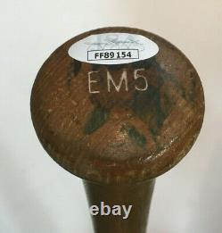Eddie Mathews signed Game Model LS vintage Baseball Bat INS 512 Hr Auto JSA COA