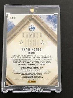 Ernie Banks 2019 Diamond Deco Quad Material Vintage Jersey Patch Bat ONE OF ONE