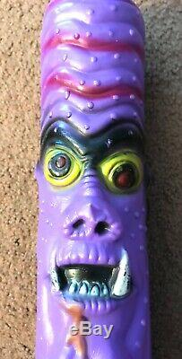 Gruesome Creatures Madballs KO Purple Count Dracula Baseball Bat, Vintage 1986